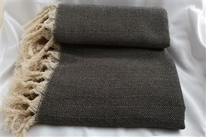 Cotton Clothes - Rug Colleciton - Black -  Herringbone