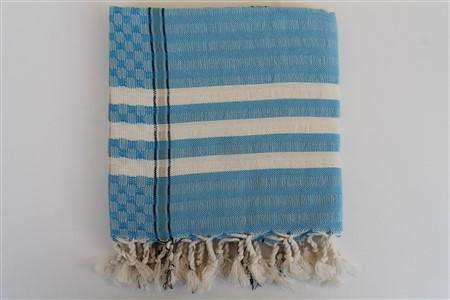 Peştemal -  Midye      koleksiyonu - Mavi Karedesen