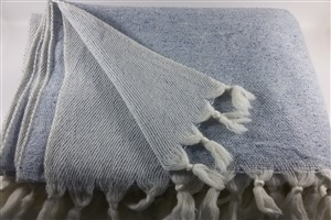 Wool Clothes - Rug Colleciton - Blue  wool&silk blanket