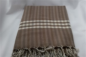 Peshtemal - Rug Colleciton - Brown - Grey Striped