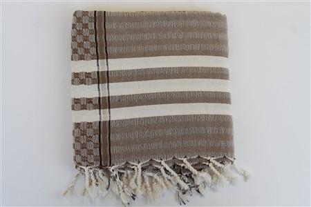 Peştemal -  Midye      koleksiyonu - Kahverengi Karedesen