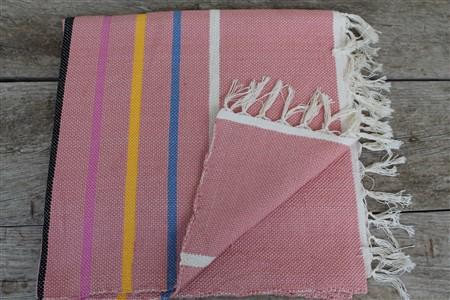 Rug - Rug Colleciton - Colored thin line light pink rug