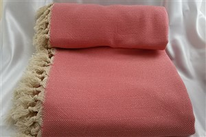 Cotton Clothes - Rug Colleciton - Coral herringbone