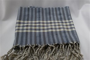 Peshtemal - Rug Colleciton - Dark Blue - Grey Striped