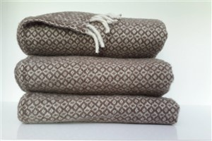 Wool Clothes - Rug Colleciton - Diamond pattern wool brown blanket