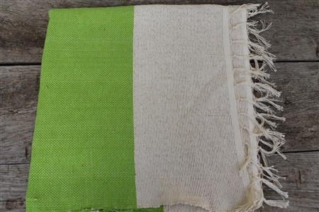 Rug - Rug Colleciton - Green White Ribboned Rug
