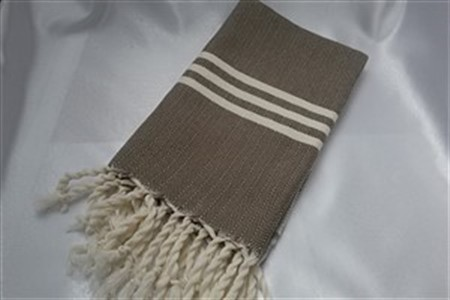 Hand Towel - Rug Colleciton - Herringbone brown hand towel