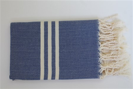 Hand Towel - Rug Colleciton - Herringbone Dark blue