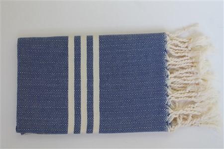 El Havlusu - Kilim Koleksiyonu - Balıksırtı koyu mavi