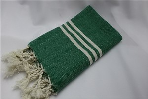 Hand Towel - Rug Colleciton - Herringbone Dark green