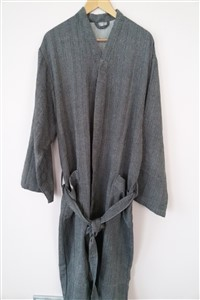 Bathrobe - Rug Colleciton - Herringbone dark grey bathrobe