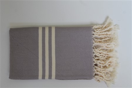 Hand Towel - Rug Colleciton - Herringbone light grey