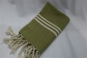 Hand Towel - Rug Colleciton - Herringbone light green