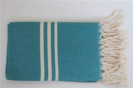 Hand Towel - Rug Colleciton - Herringbone Oil Green
