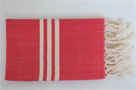 El Havlusu - Kilim Koleksiyonu - Balıksırtı kırmızı el havlusu