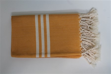 Hand Towel - Rug Colleciton - Herringbone yellow hand towel
