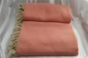 Cotton Clothes - Herringbone  Throw Collection - Light pink Herringbone