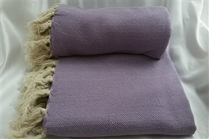 Cotton Clothes - Herringbone  Throw Collection - Lilac - Herringbone