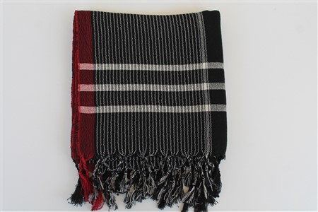 Peshtemal - Rug Colleciton - Red Striped pattern - black