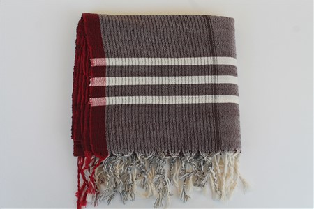 Peshtemal - Rug Colleciton - Red Striped pattern - claret red peshtemal