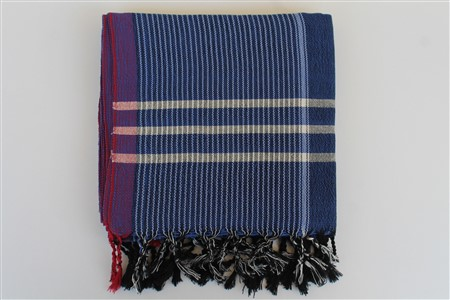 Peshtemal - Rug Colleciton - Red Striped pattern - blue