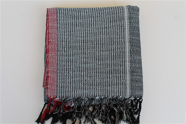 Peshtemal - Rug Colleciton - Red Striped pattern - denim blue peshtemal