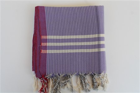 Peshtemal - Rug Colleciton - Red Striped pattern - lilac