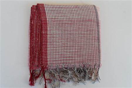 Peshtemal - Rug Colleciton - Red Striped pattern - pink powder color