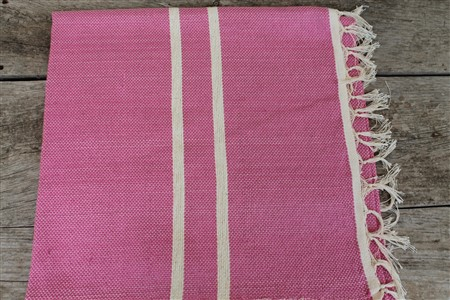Rug - Rug Colleciton - White striped pink rug