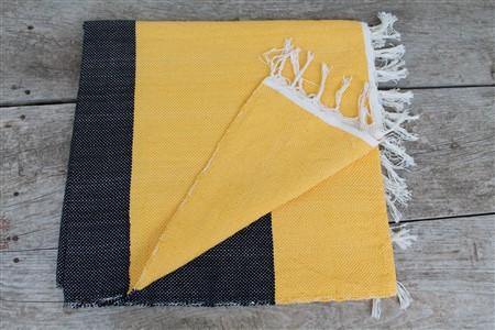 Rug - Rug Colleciton - Yellow Black Ribboned Rug