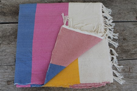Rug - Rug Colleciton - Yellow White Pink Blue Ribboned Rug