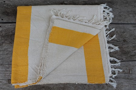 Rug - Rug Colleciton - Yellow White Ribboned Rug